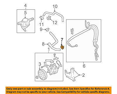 OEM 05-14 Legacy Outback Tribeca Power Steering Pump Hose Tube Gasket 34621AC024