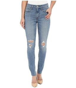 Levi s 721 Women s High Rise Skinny Ripped Distressed Denim Jeans ... 8114be926d