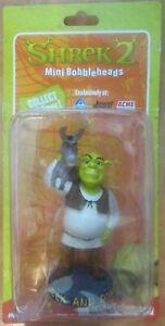 Vintage-2003-Dreamworks-New-sealed-package-Shrek-2-mini-bobbleheads-Donkey-Shrek