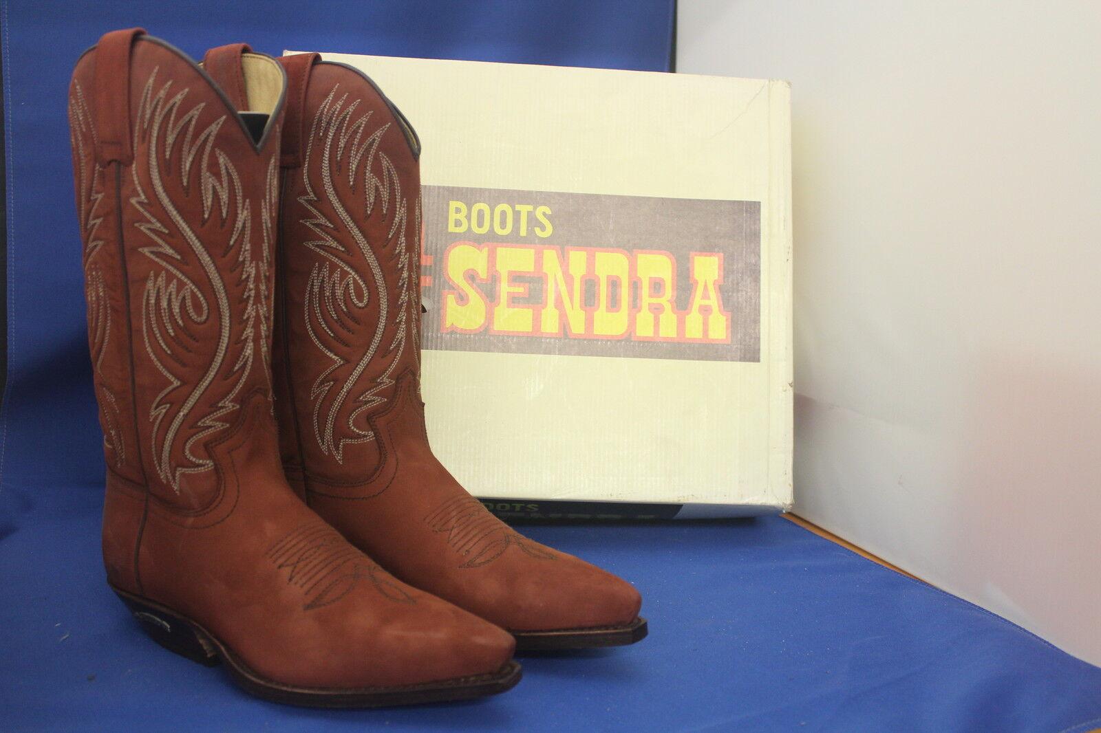 Sendra boots Western botas botas botas de vaquero Sendra GR. 41 nuevo 7 1/2 rojo