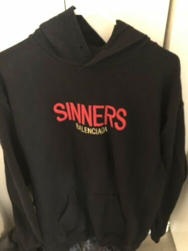 Balenciaga Embroidered Sinners Oversized Hoodie -