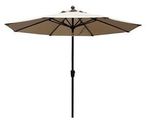 9  ft Umbrella  Sesame Beige or Walnut color color.