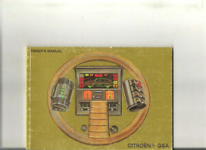 CITROEN-GSA-1982-ENGLISH-carnet-entretien-owner-039-s-manual-notice-conducteur