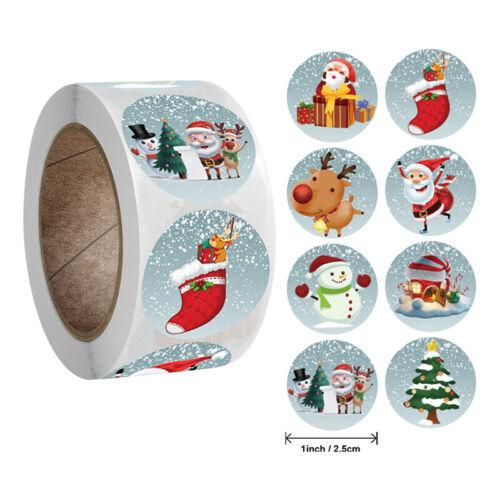 500 Étiquettes-Cadeaux de Noël Père Noël étiquettes autocollant Autocollantes