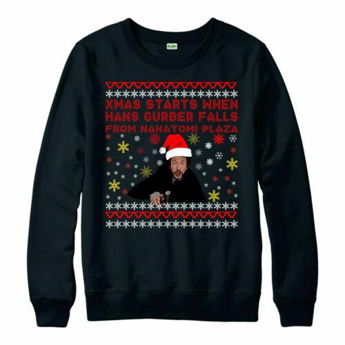 Christmas Festive Xmas Gift Jumper Hans Gruber Nakatomi Plaza jumper