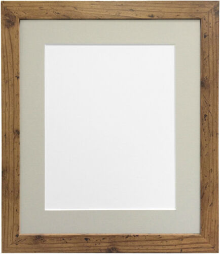 Frames by Post H7 Picture Photo Frame 12 X 10 Inches Rustic Oak With ...