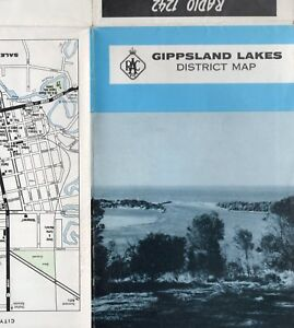 Vintage-RACV-Regional-DISTRICT-MAP-of-GIPPSLAND-LAKES-Victoria