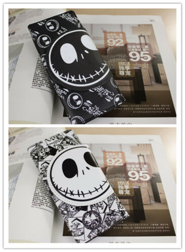 The Nightmare Before Christmas Jack Skellington Coin Pouch Bag Long Purse Wallet