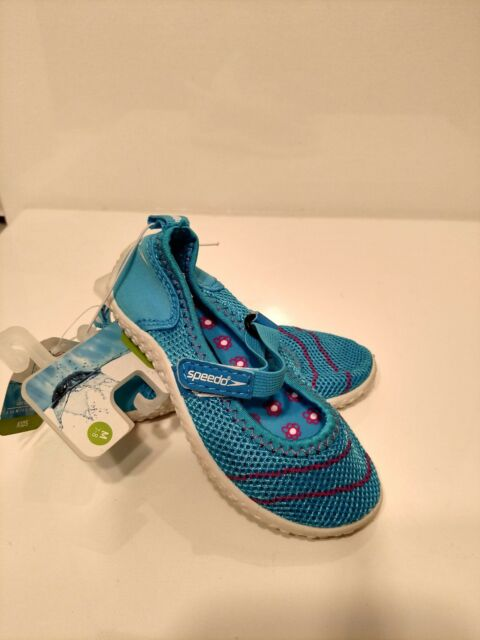 d4199dd1dab NWT Speedo Kids Toddler Girls Turquoise Blue Pink Mary Jane Water Shoes Sz  M 7-