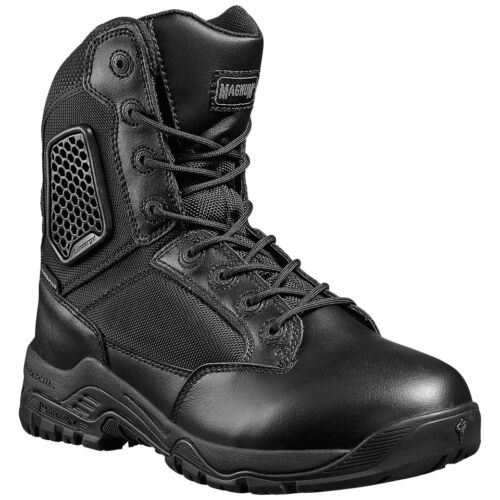 Magnum Strike Force 8.0 Side Zip Waterproof Mens Boots Michelin ExoGel Black
