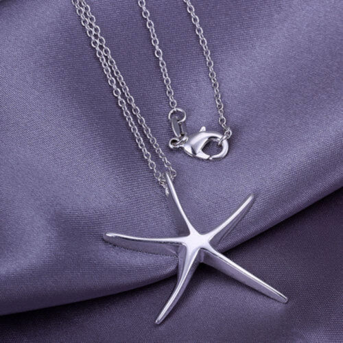 EPIC VAULT-Sterling Silver Starfish Pendant /& Chain