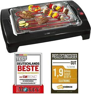 Clatronic-Tischgrill-Elektrogrill-Elektro-Tisch-BBQ-Barbecue-Grill-2000W