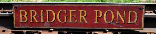 Custom Pond Wood Sign Rustic Hand Made Vintage Wood Sign