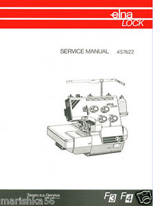 elna f3 f4 sergers service manual and parts books on cd ebay rh ebay com