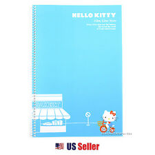 Hello Kitty Slim Line College Ruled Spiral Notebook : Blue