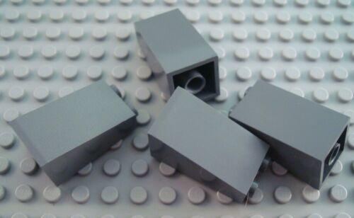 LEGO Lot of 4 Dark Bluish Gray 2x2x3 Slope Pieces