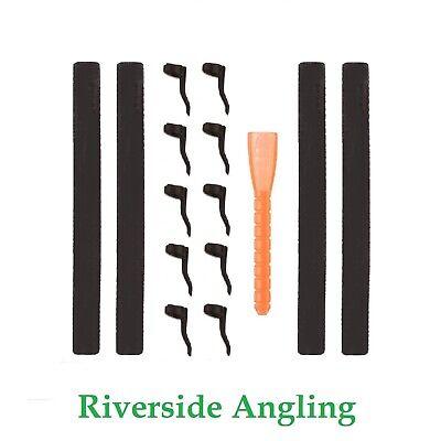 Zig Rig Kit 15pc Black Zig Foam Aligners Carp Fishing Tackle Rigs Pop Up Bait