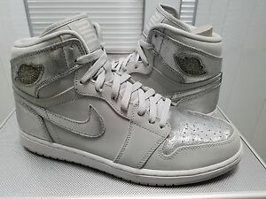 95b88a699358c8 Nike Air Jordan 1 Retro HI SILVER 2009 25th Anniversary Sz 11.5 DS ...
