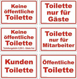 keine ffentliche toilette diverse aufkleber schild hinweis verbotsschild ebay. Black Bedroom Furniture Sets. Home Design Ideas