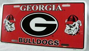 Georgia Bulldogs License Plate Car Truck Tag Football Man Cave Dawg Fans NCAA
