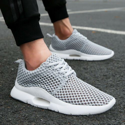 Mens Walking Shoes Casual Sneakers Lightweight Clogs Breathable Solid Summer Gym