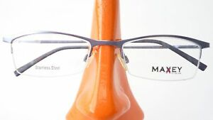 Brillen Gestell Stahl Fassung Mit Schmaler Form Nur Oberrand Graublau Gr M Verschiedene Stile Brillenfassungen Augenoptik