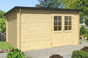 Gartenhaus Evolution 4 1x3 2 M Holz Trapezblech Geratehaus
