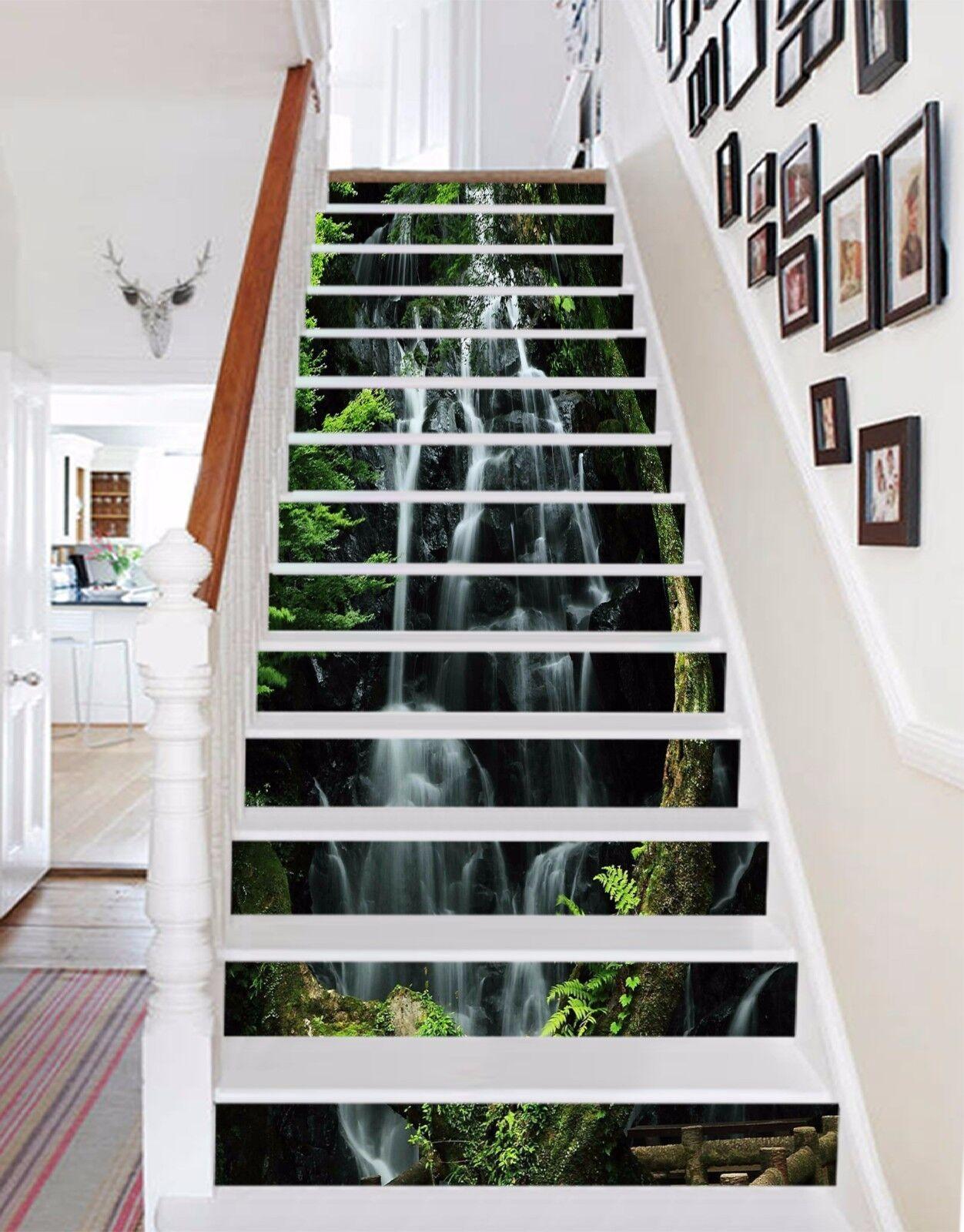 3D Falls Streams 08 Stair Risers Decoration Photo Mural Vinyl Decal WandPapier UK