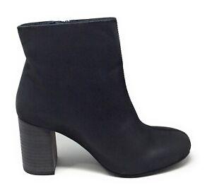 Seychelles-Women-039-s-Congregation-Nubuck-Stacked-Heel-Ankle-Boots-Black-Size-7