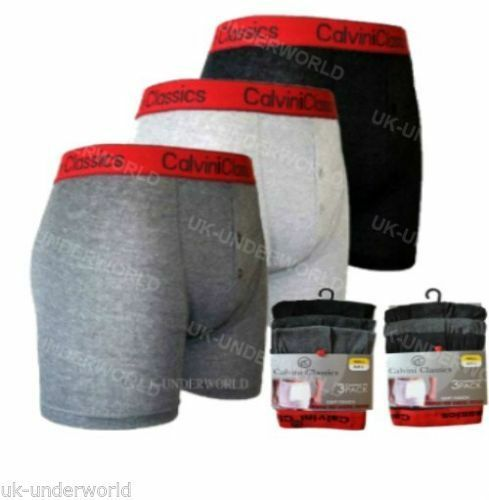 6 Pairs Mens Classic Red Band Waistband Boxer Shorts Trunks Adults Briefs