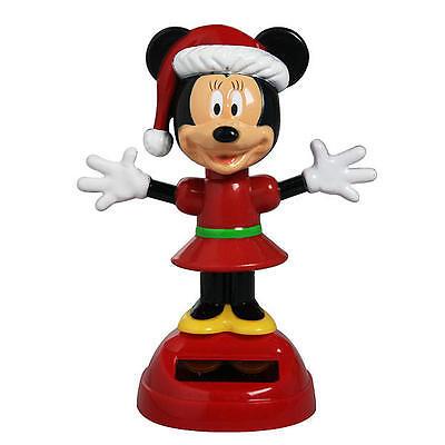 Christmas Minnie Mouse Head.Disney Minnie Mouse Christmas Solar Bobble Head Mickey Mouse 462877 Nib Ebay