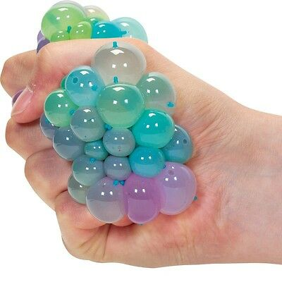 CONFETTI SQUISHY MESH BALL 37075 STRESS RELIEVER SQUEEZE TOY COLOURFUL SLIME