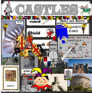 castle topic teaching resources ks1 ks2 castles topic teacher resource display ebay. Black Bedroom Furniture Sets. Home Design Ideas
