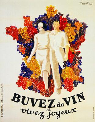 Buvez du Vin et vivez joyeux Decor Poster.Fine Graphic Home Art Design 2813