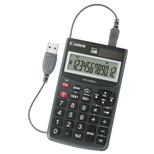Canon DK10I Desktop Calculator Solar With USB PC-Link Number Pad Tax