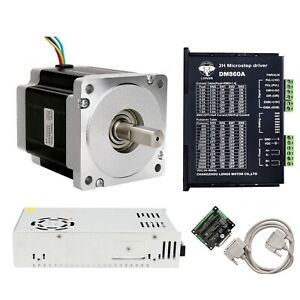 1Axis Nema 34 Stepper Motor 960 oz.in 5.6 A/&Driver Power CNC kit Promotion