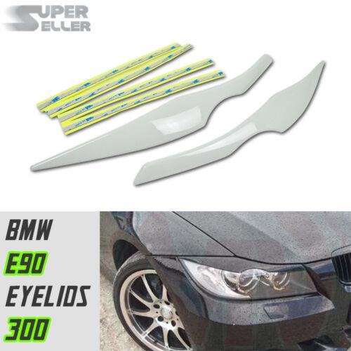 2006-2011 BMW 3-Series E90 4DR Sedan Front Headlight Eyebrows Painted#300