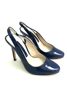 Zara-Azul-Tacon-Alto-Tira-en-Tobillo-Zapatos-Talla-Uk3-Eur36-US6-Ref-5203-301