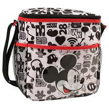Disney Mickey Mouse Baby Mini Diaper Bag Bottle Lunch Tote Bag Black White NEW