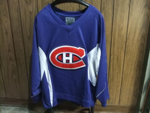 Montreal Canadians hockey jersey blue XL stitched