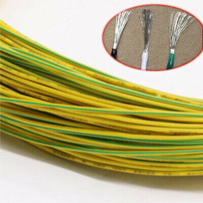 Yellow Equipment Wire DIY Electrical Wire Flexible Cable UL1015 8//10//12~24AWG
