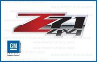 Set Of 2: 2007 - 2013 Gmc Sierra Z71 4x4 Decals - Fscfr - Carbon Fiber Red Bed