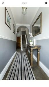 Details About Carpet Hallway Or Stair Runners 2 Foot Wide Black Stripe