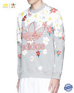30%off Adidas printed daisies flowers hand-drawn by Pharrell sweatshirt Sz: M