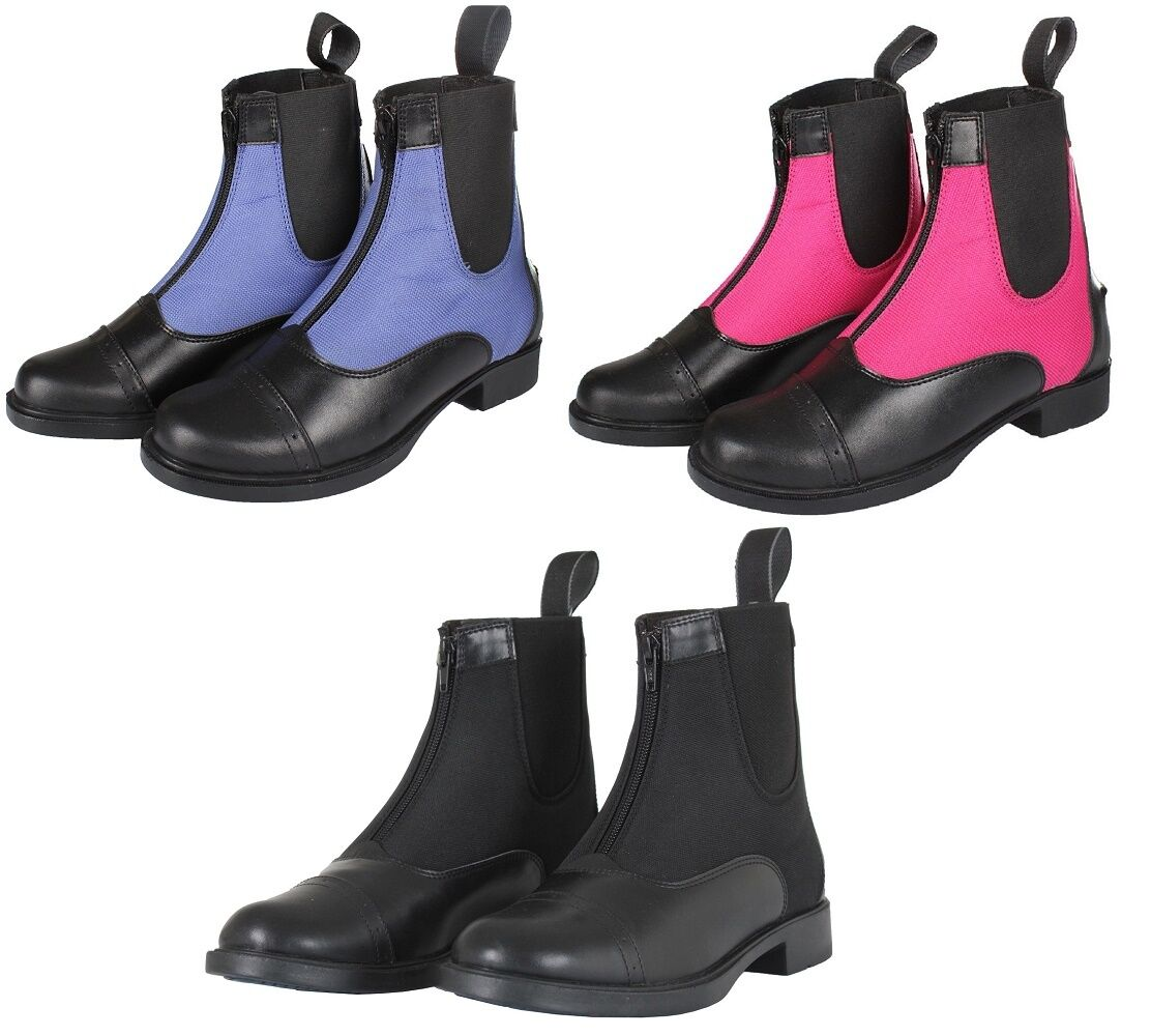 Horka TWO TONED ZIPPED Horse Riding Jodhpur Boots ALL COLOURS & SIZES