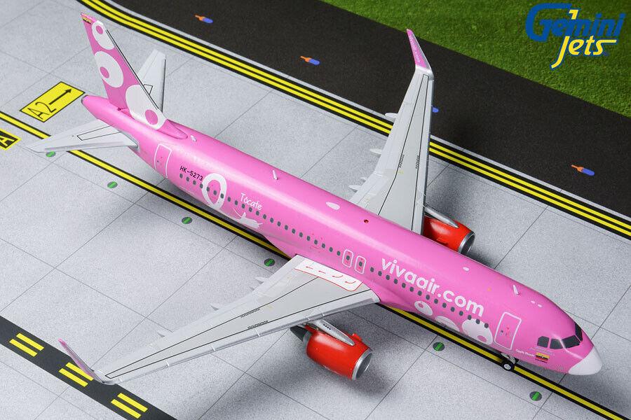 GEMINI JETS VIVAAIR AIRBUS A320-200 A320-200 PINK 1 200 DIE-CAST G2VVC823 IN STOCK