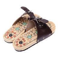 Healthy Reflexology Acupuncture Wooden Foot Massager MASSAGE SANDALS Shoes