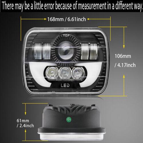 "H6054 7x6/"" LED Headlight Hi//Lo Beam Halo DRL For Express Savana 1500 2500 3500"