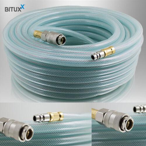 """Bituxx 10 Meter PVC Druckluftschlauch mit 1//4/"""" Steckkupplungen Kompressor 10m"""