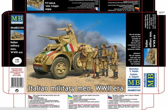 NEW PLASTIC KIT ITALIAN MILITARY MEN WWII ERA 1/35 MASTER BOX 35144 DE NEW